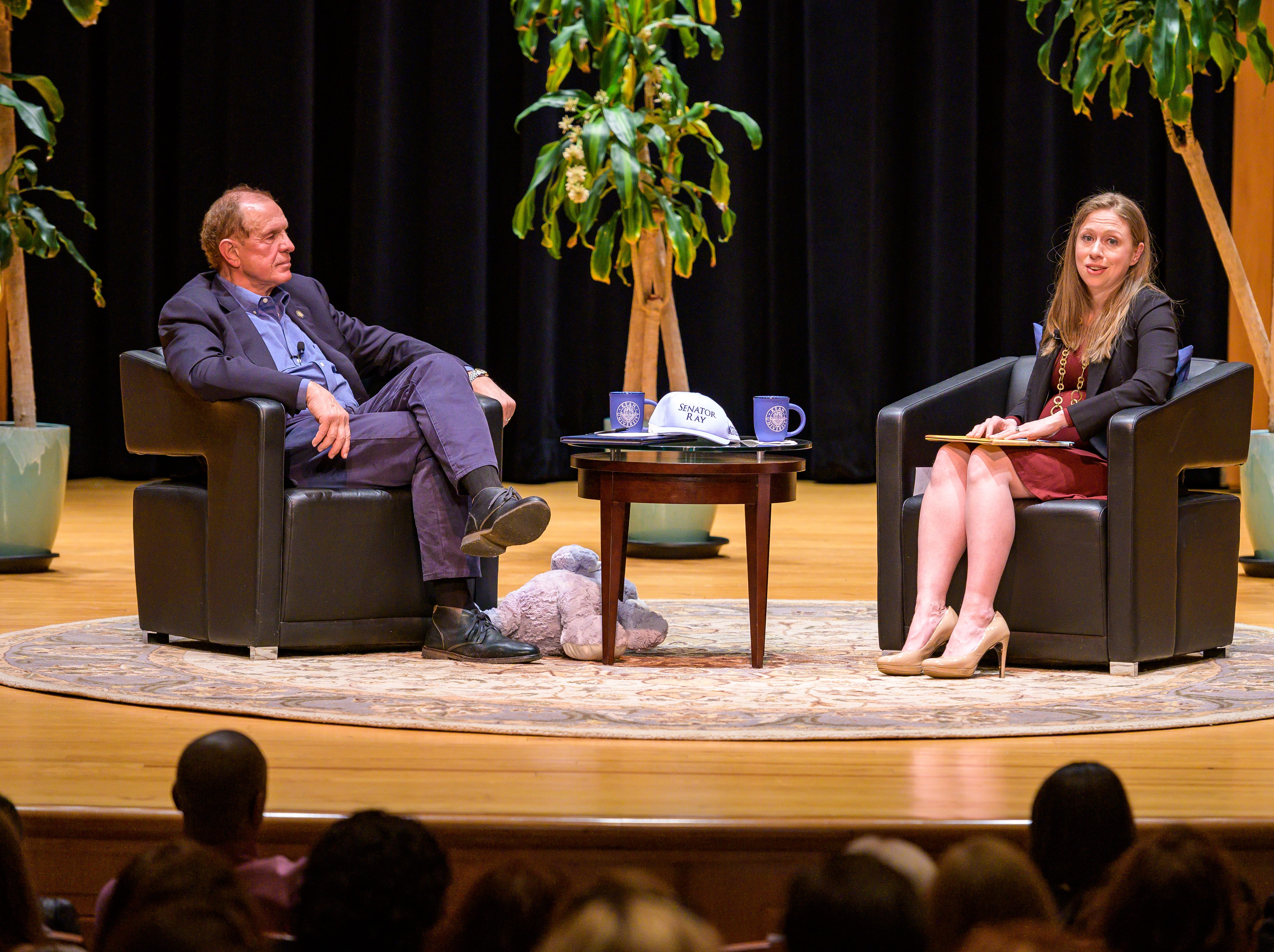 """Chelsea Clinton presented a sold-out discussion, book signing and audience Q&A at Kean University's Enlow Recital Hall Thursday night, which centered on her fifth children's book """"Don't Let Them Disappear."""""""