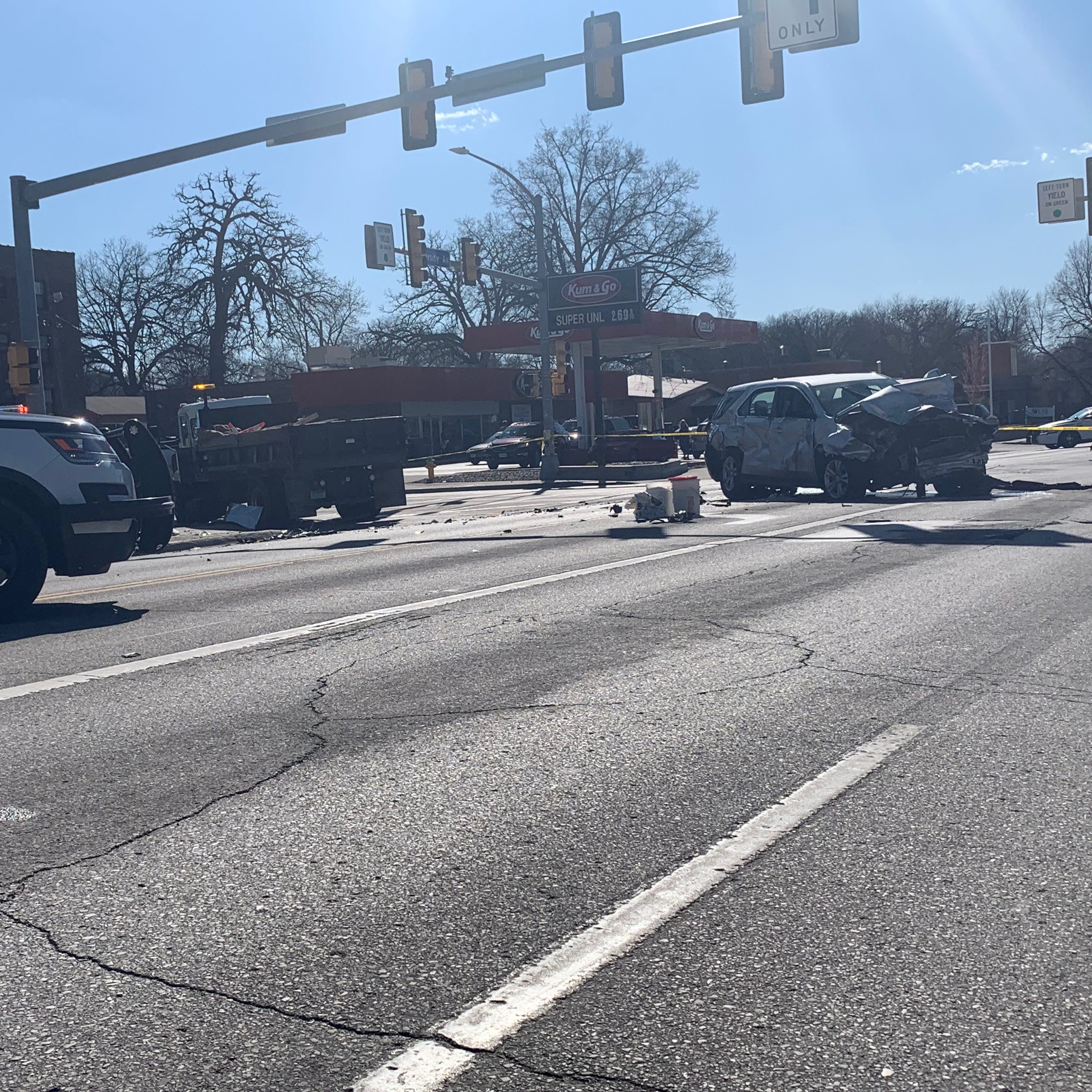Police: Drake neighborhood intersection closed after serious crash involving juveniles in a stolen car