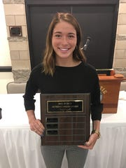 Southeast Polk senior Paige Blackford received the Bill Burch Award for her positive influence on her classmates and others at Southeast Polk High School.