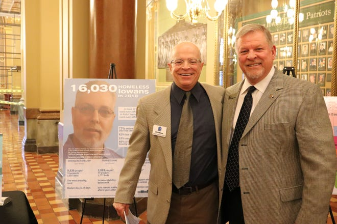 Tim Wilson from Home Forward Iowa visited state Rep. Scott Ourth at the state Capitol last week discuss homelessness in Iowa and in Warren County.