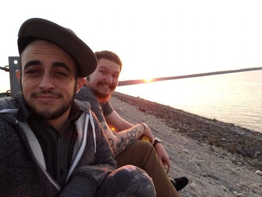 Codii Lewis and his fiance Logan Elliott at Saylorville Lake.