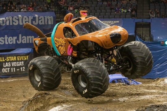 Davenport native Myranda Cozad drives the Scooby Doo Monster truck.