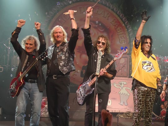 After reuniting for the Dallas gig in 2015, the surviving members of the original Alice Cooper band played a Nashville show in May 2017.