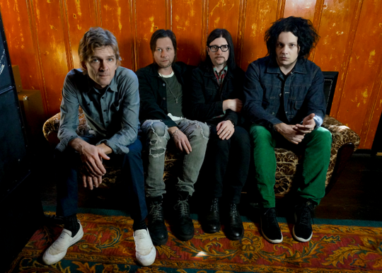 The Raconteurs (left to right): Brendan Benson, Patrick Keeler, Jack Lawrence, Jack White