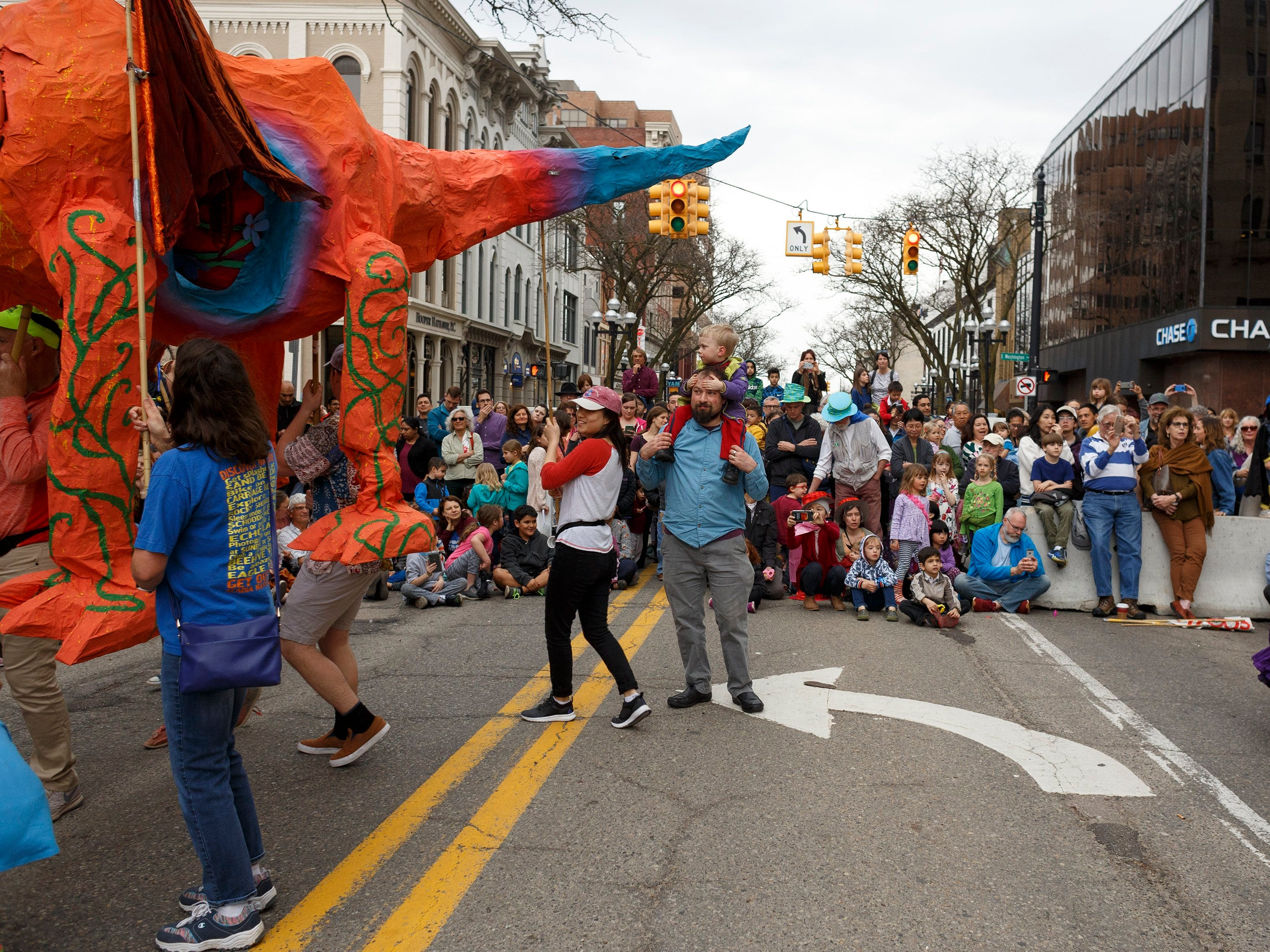 The annual FestiFools parade on Sunday, April 7, 2019 on South Main Street in downtown Ann Arbor.