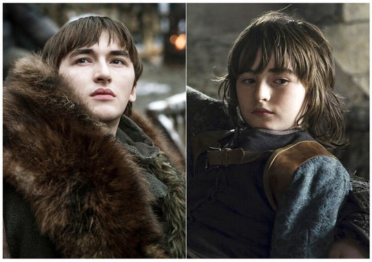 This combination photo of images released by HBO shows Isaac Hempstead Wright portraying Bran Stark.