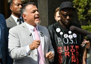 Nabih Ayad joined family members of Terrance Kellom and civil rights leaders Monday outside the federal courthouse in downtown Detroit in calling for the Wayne County Prosecutor's Office to reopen the probe of his death April 27, 2015.