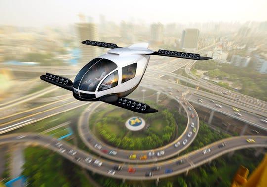 A study by Ford and UM on the environmental impact of flying cars finds they could make sense for longer trips.