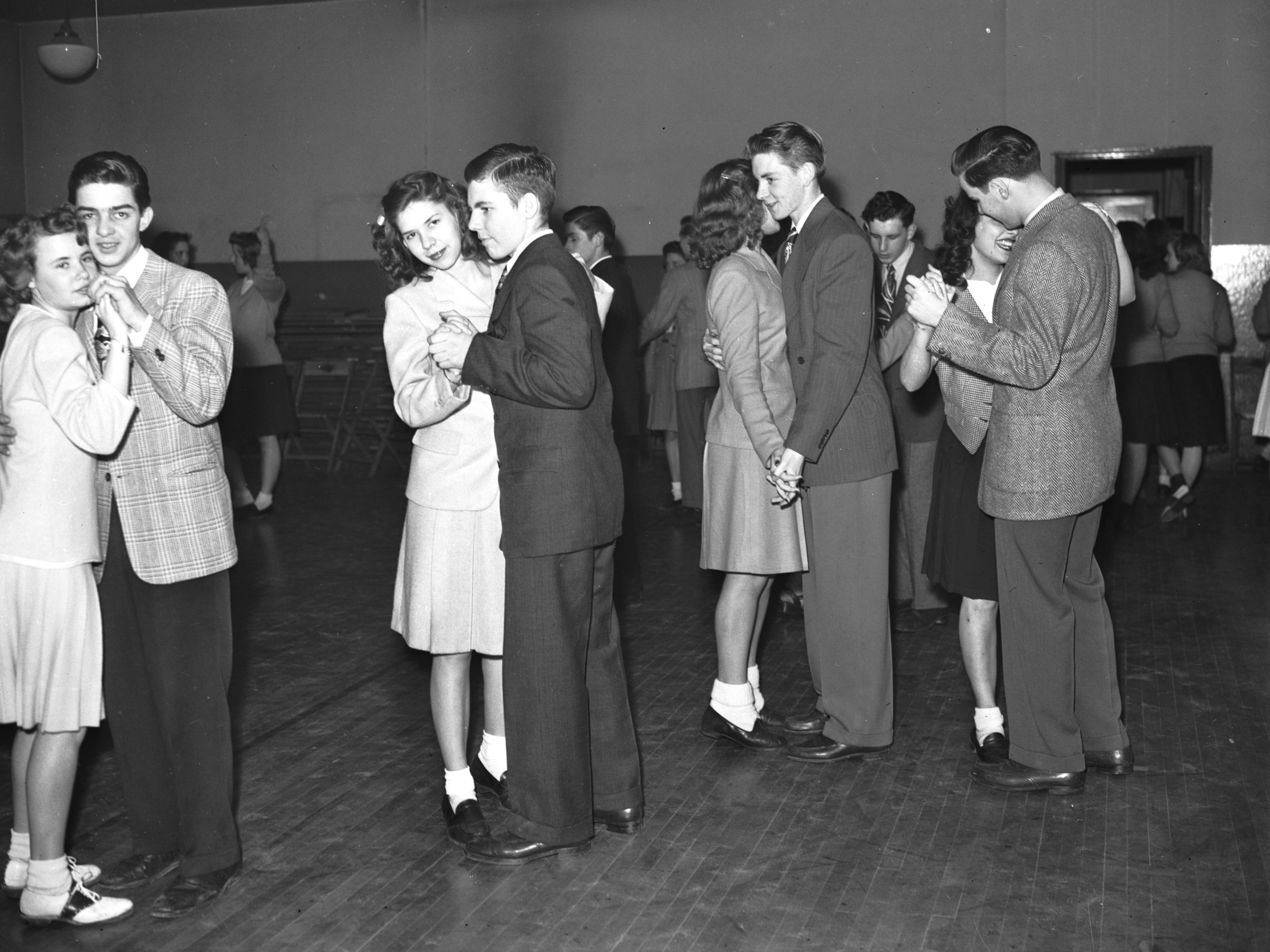 Dancers take the floor at the Shangri La, a teenage nightclub in Redford.