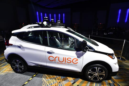 GM Cruise LLC's driverless taxi service car was shown at Cobo Center in April 2018.   At the time, the fleet was projected to launch in 2019.