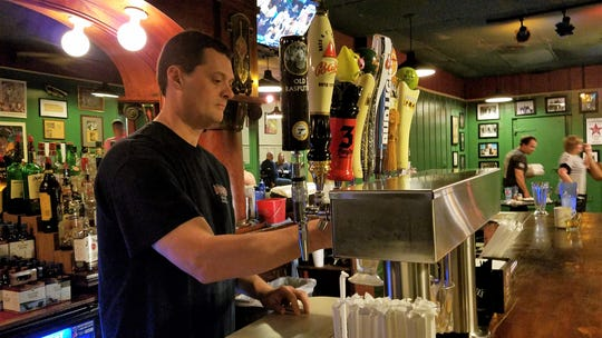 Bartender Jeff Joynt has worked at the Deerhead for over 30 years and can usually be found there every single day.