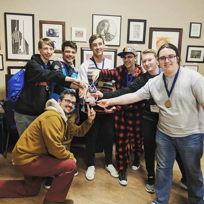 Arrowhead High School's esports team is pictured after winning the Culver-Stockton Invitational at the end of March.