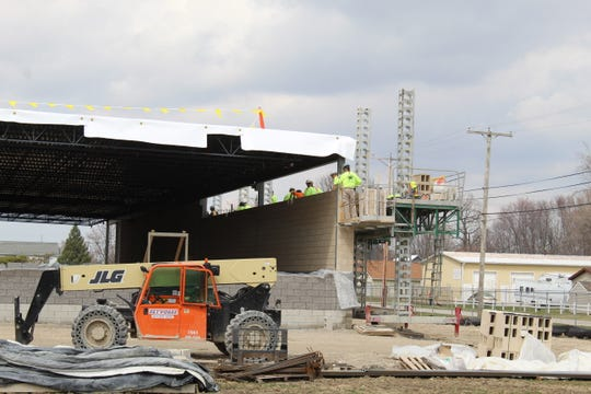 Work continued Monday on the new Kroger site in Fremont. The new store is expected to be open before the end of the year, according to city and Kroger officials.