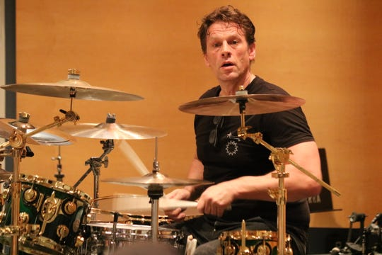 Thomas Lang, hailed as one the best drummers in the world, gave a clinic at the 2019 Midwest Rhythm Summit at Terra State Community College on Saturday.