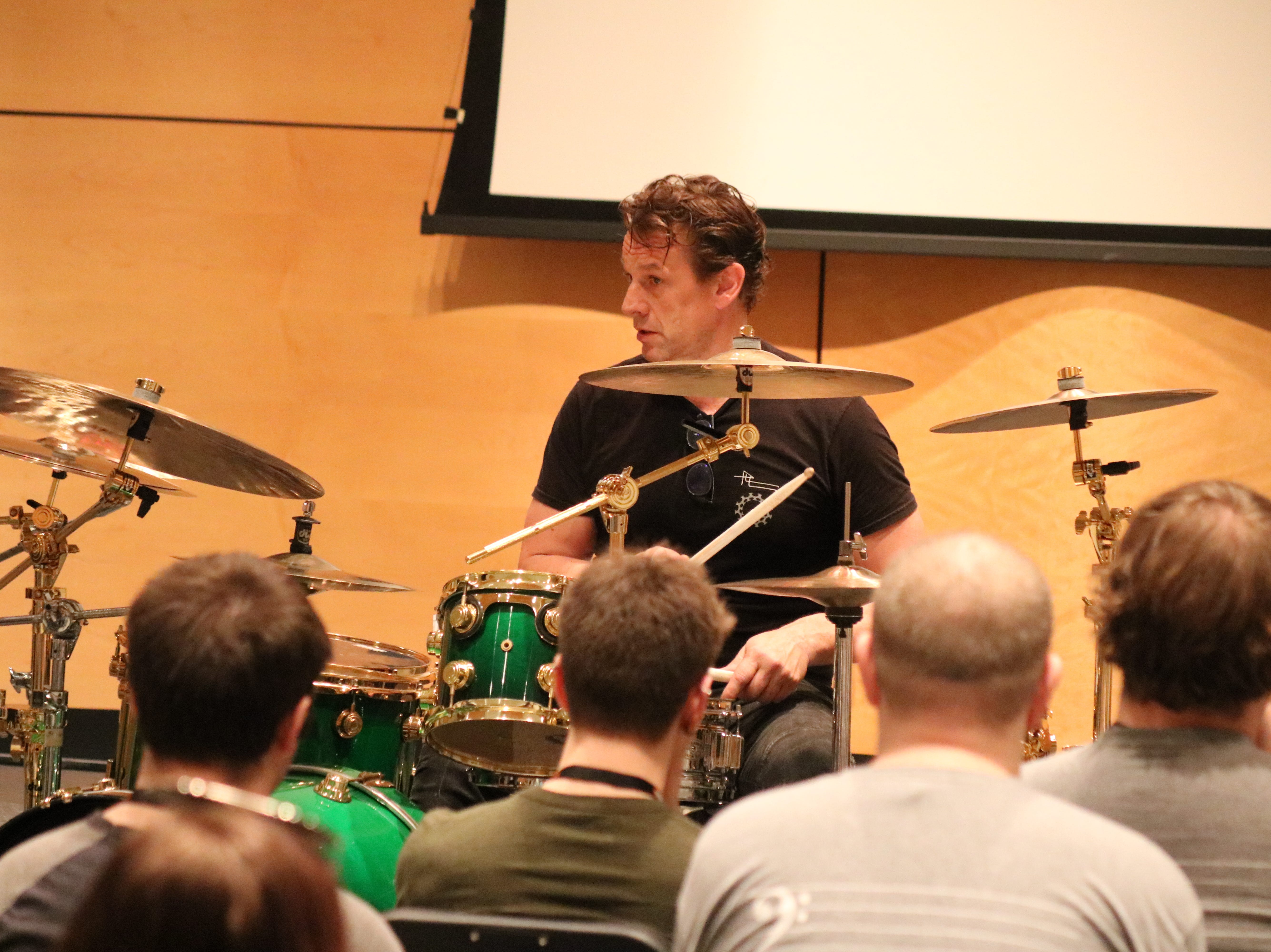 Thomas Lang, among the best drummers in the world, gave a clinic at the 2019 Midwest Rhythm Summit at Terra State Community College on Saturday.