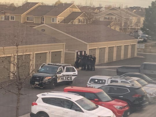 SWAT responds to assist Fort Collins police during a standoff on Antigua Drive on Sunday.