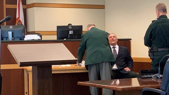 As part of James Daniel Sinclair's plea agreement on evidence tampering and obstruction charges, accepted by Lee County Circuit Court Judge J. Frank Porter Monday, Sinclair had to provide a DNA sample for the Florida Department of Law Enforcement.