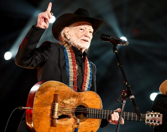 Willie Nelson performs at MusiCares Person of the Year honoring Dolly Parton in February.
