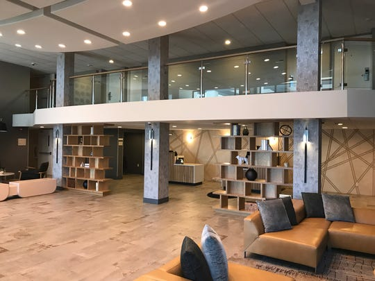 The lobby of the Delta Hotels by Marriott Green Bay was upgraded as part of an $8.5 million revamp of the Ashwaubenon hotel.