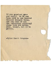 Tyler Knott Gregson, known for his typewriter poetry, has a new book combining poetry, prompts and inspiration for better living.