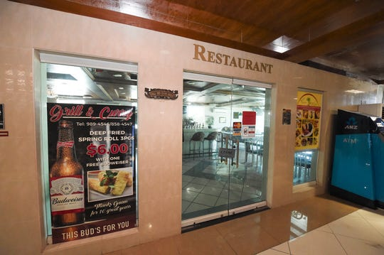 "The Grill & Curry Cafe at the Wyndham Garden Guam building in Tamuning, April 8, 2019. The restaurant was ordered closed following its ""D"" rating inspection."