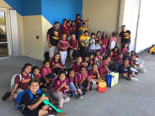 Students from Capt. H.B. Price School participated in Math Kangaroo 2019 sponsored by Guam Community College on March 22. The students answered at least 24 grade-level math problem solving questions and participated in the math carnival.  First row seated from left: Ziah Dulei, Xyriah Morta , Ricell Hepen, Newlyn Mateus, Jonas Tenorio, Michael Clement, Jaden Laniyo, Sinahi King, Kole Lizama, Dante Calvo (in hat and sunglasses), and Colin Lizama. Second row seated from left: Azahry'ah Finik, Shiovohnni Santos, C'annahrene Borja, Sophia Nangauta, Ioane Camacho, Xavier Yano, Skyler Francisco, Ella San Nicolas, Isabel Reyes, Cyan Sablan, Vayla Gumabon, Irie Belle Gasque, and Ms. Loughran, GATE teacher. Third row from left: Mr. Quinata, second-grade teacher, Preston Pangelinan, Slade DeGracia, Samara Bongato, Ava Grace San Nicolas, Abigail Lopez, Nova Pagan, and Molly Sky Dahilig. Fourth row from left: Misiah Murphy, Taga Blas, Dano Pangelinan, Alexis Gogue, Robert O'Brien and Savian Sablan.