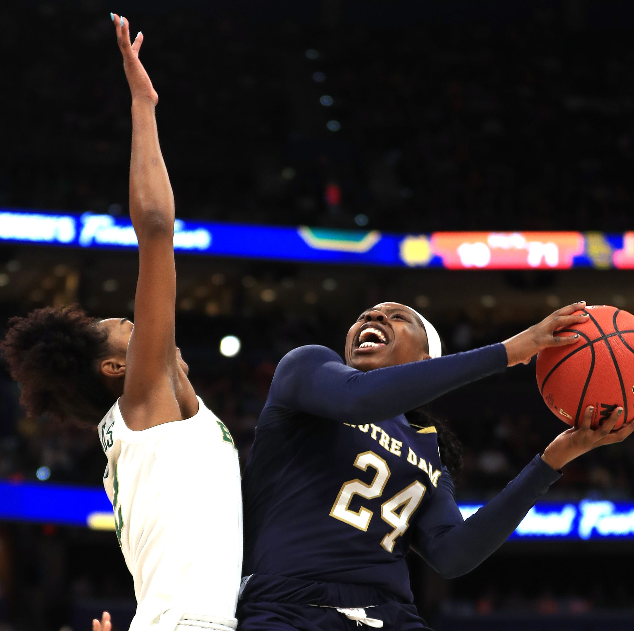 Arike Ogunbowale — Notre Dame's epic shot-maker — comes up 1 shot short in title game loss to Baylor