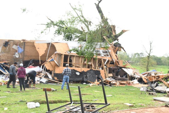 A family of four lost their mobile home to what appeared to be a tornado in Wilkinson County.