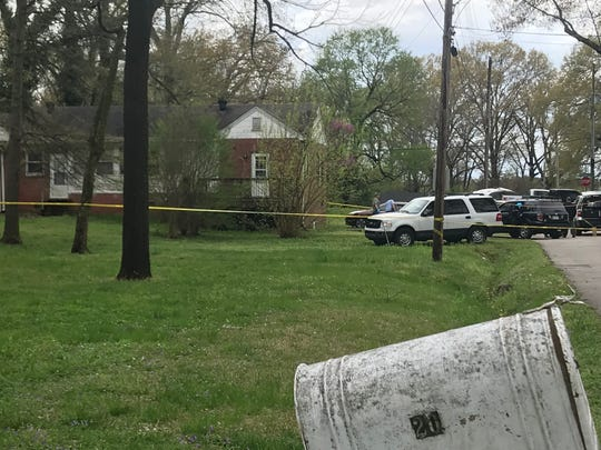 Police responded to a fatal shooting at a residence near the intersection of Hollywood Drive and Sherrill Drive in Jackson at around 3 p.m. Monday.