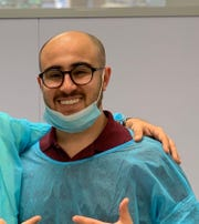 Orthodontist Greg Asatrian innovates on YouTube. Here he is between patients.