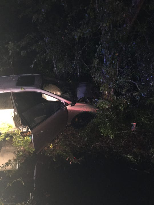 Two men led authorities on a high-speed chase before crashing into a treee, according to Duson Police.