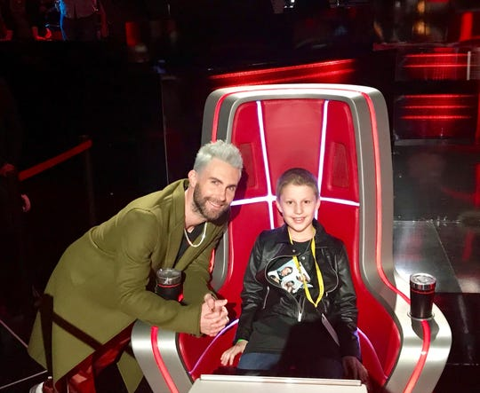 Colin McGee, a fifth-grader at Milton Elementary, met Adam Levine and watched a live taping of The Voice.