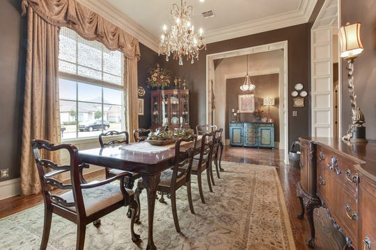 The dining room is large enough for any gathering.