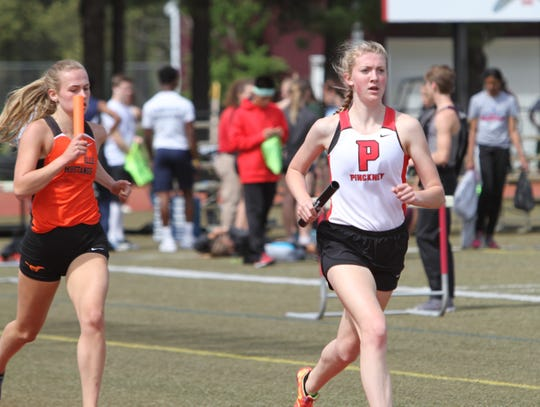 Erika Rapp of Pinckney is a two-time state qualifier in the 800 meters.