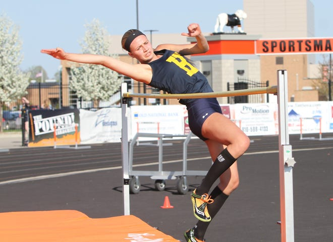 Hartland's Lindsey Strutz is a multi-event standout, setting the school record in the high jump.