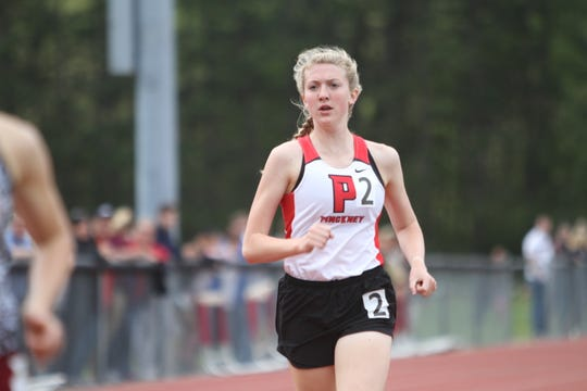 Pinckney's Erika Rapp set the county record in the 800 meters last year.