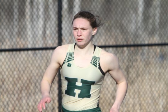 Emily Endebrock set Howell's 400-meter record last year.