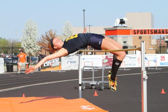 Hartland's Lindsey Strutz won three events in the Freeland Invitational.
