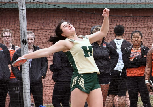 Howell's Amy Henderson was all-county in the discus last year.