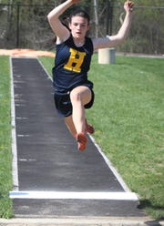 Hartland's Syd Caddell was a state qualifier in the long jump last season.