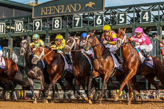 The start of the Toyota Blue Grass Stakes at Keeneland.