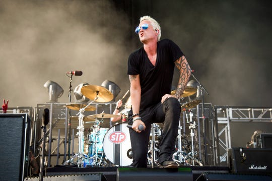 Jeff Gutt of Stone Temple Pilots performs at the Rock On The Range Music Festival at Mapfre Stadium on Sunday, May 20, 2018, in Columbus, Ohio. (Photo by Amy Harris/Invision/AP)
