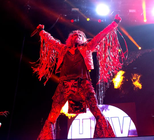 Rob Zombie performs in concert during the Rock Allegiance Festival at BB&T Pavilion on Saturday, Oct. 7, 2017, in Camden, N.J. (Photo by Owen Sweeney/Invision/AP)