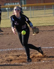 Lexington freshman Jillian Bammann collected 15 strikeouts over two wins against Colonel Crawford while also adding four hits with a home run.