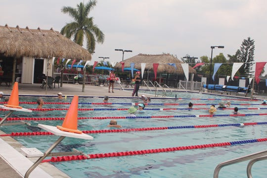 The pool at the Y is in almost constant use due to the popularity of its various programs.