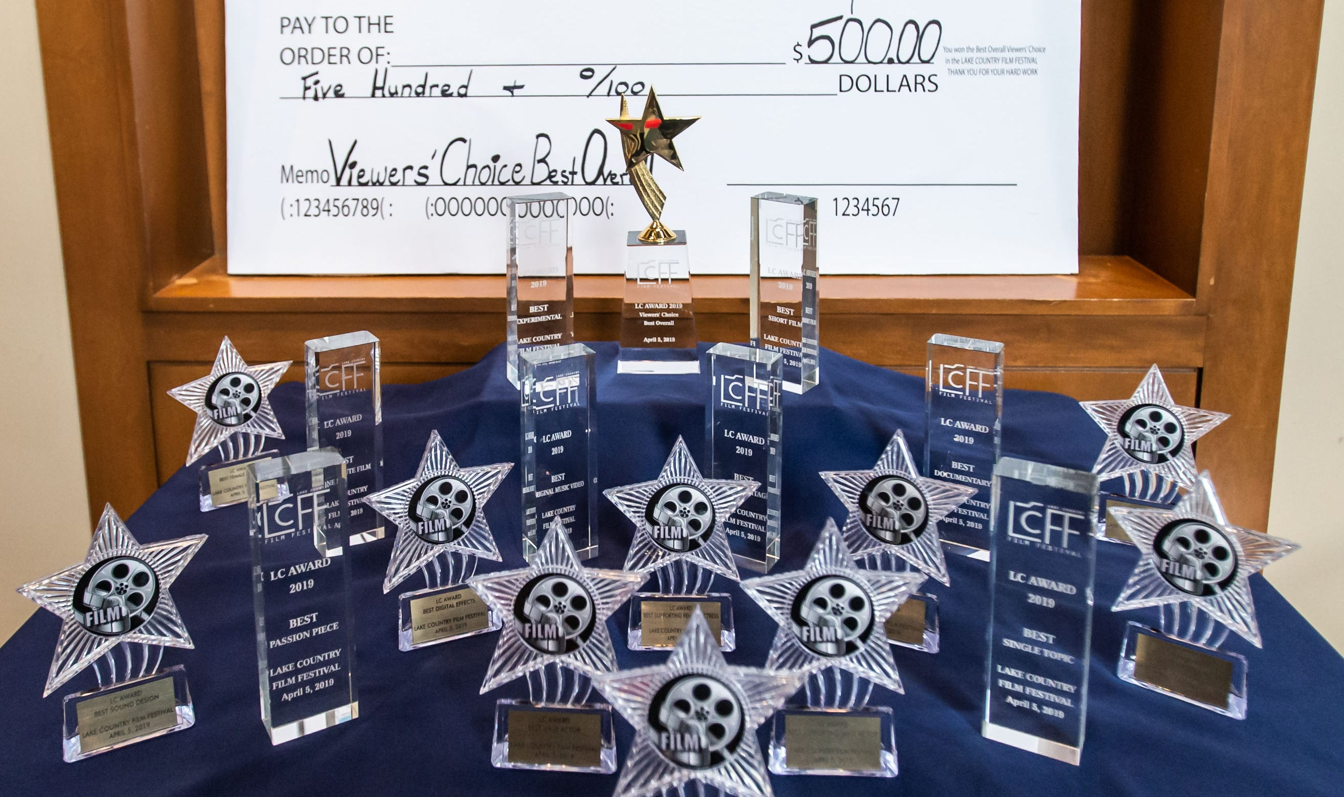 Awards for a variety of categories await filmmakers during the 4th Annual Lake Country Film Festival at the Oconomowoc Arts Center on Friday, April 5, 2019. The annual festival is open to students in the Lake Country Area and aims to encourage future filmmakers to create work that inspires audiences through the power of visual artistry, sound design, and storytelling.