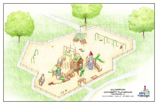 The new Willowbrooke CommUNITY Playground is pictured in this rendering.