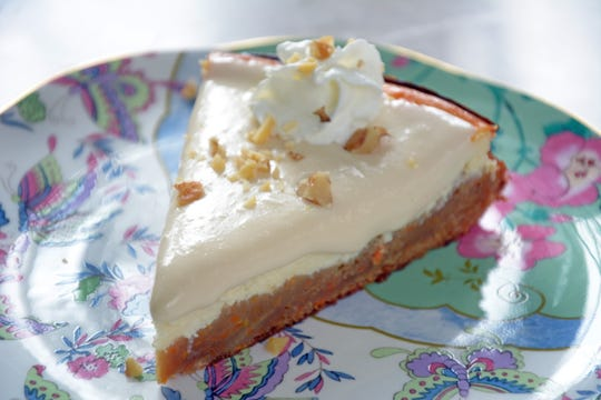 The best of two worlds come together in this carrot cake cheesecake to top off the Easter meal.