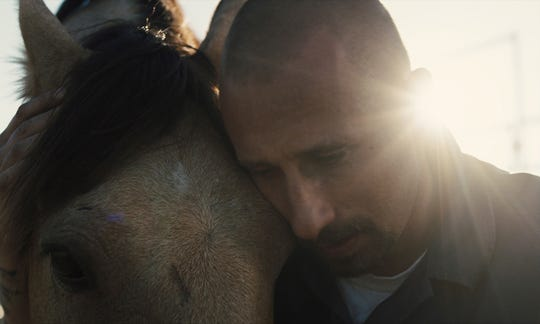 """Matthias Schoenaerts plays a convict who finds new purpose working at a wild-horse training facility in """"The Mustang."""""""