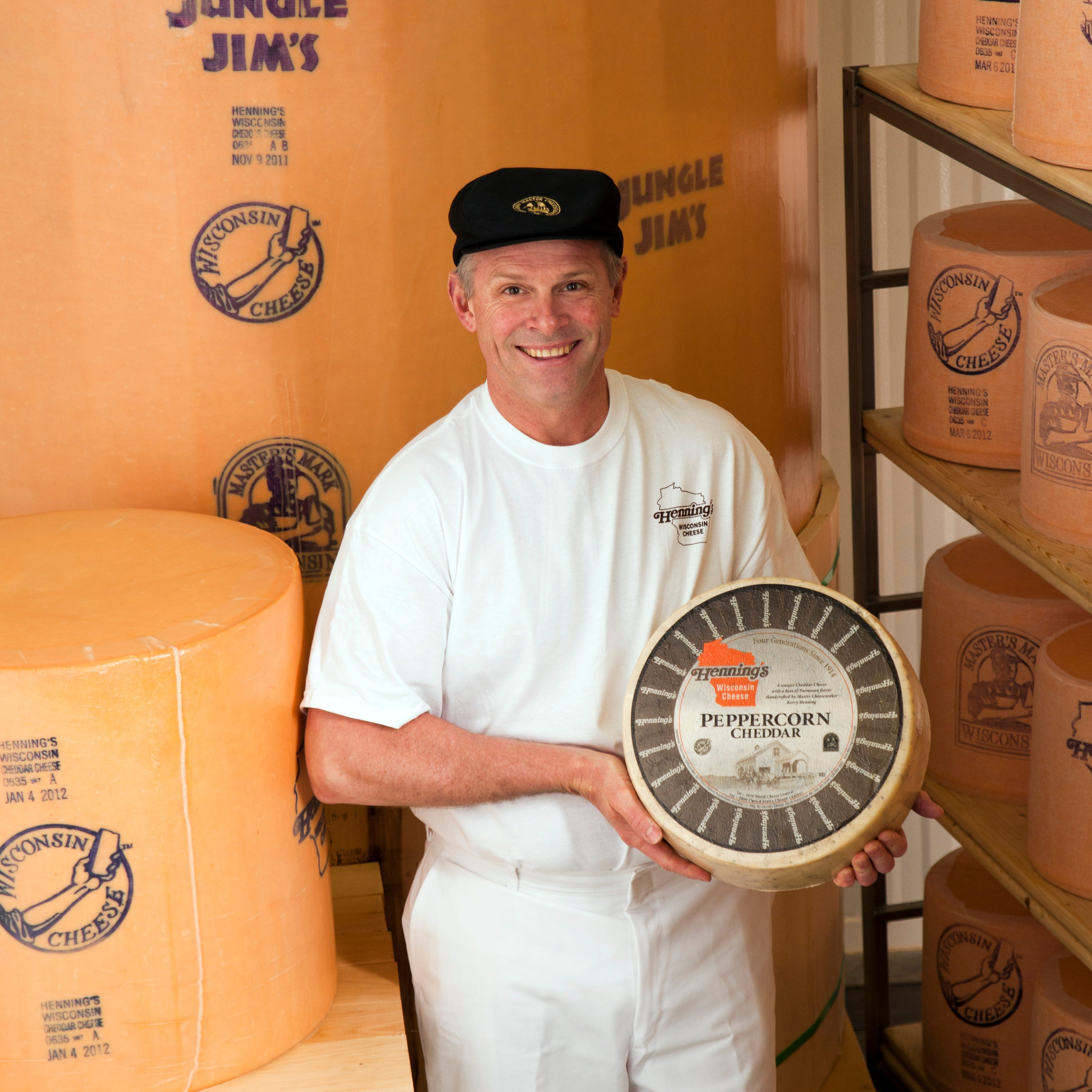 Making cheese, especially cheddar, is a family tradition at Henning's Wisconsin Cheese in Kiel